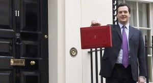 George Osborne outside No 11 with the Budget Box 2012